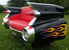 59 Cadillac Rear End Car Couch with Flames
