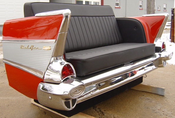 Flash Sale 1957 Chevy Rear End Car Couch