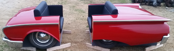 Flash Sale - 1960 Red Ford Full Booth Set